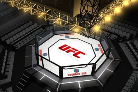 Ufc style octagon fighting arena 3d model max cgtrader com