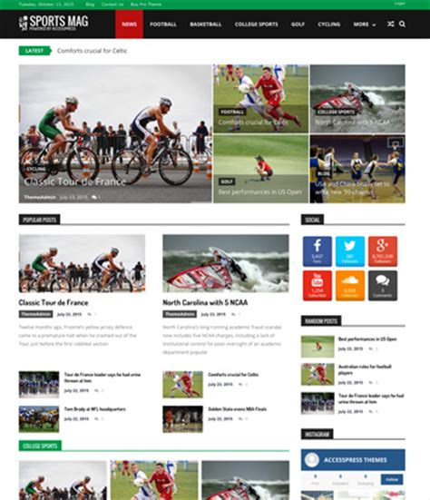 themes wordpress free sport 50 free wordpress responsive themes 2017 download