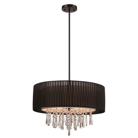 Drum Shade Pendant Light Lowes Shop Style Selections Penchant 22 84 In Black Single Drum Pendant At Lowes