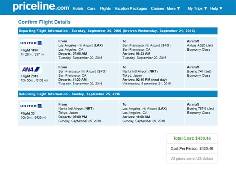 united airlines trip from los angeles to tokyo starting 423