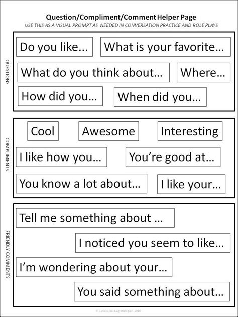 �all about me� signs to help with reciprocal peer