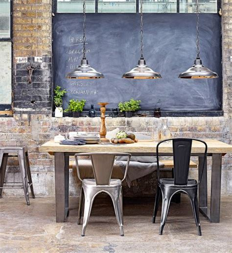 35 cool industrial dining rooms and zones digsdigs - Industrial Dining Room