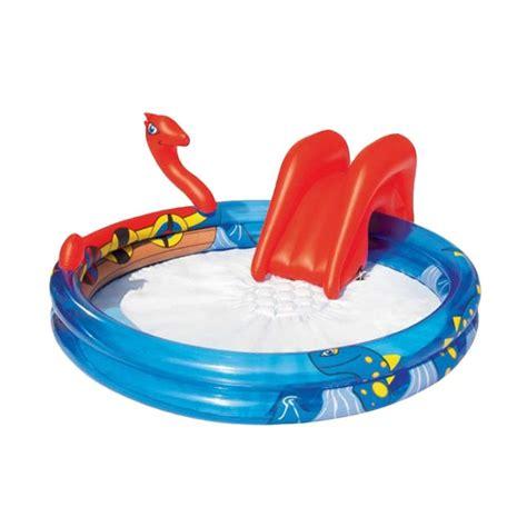 Kolam Renang Snake Pool 53026b jual tomindo bestway viking pool biru merah kolam renang