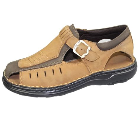 mens wide sandals mens buckle sandals walking fashion casual summer