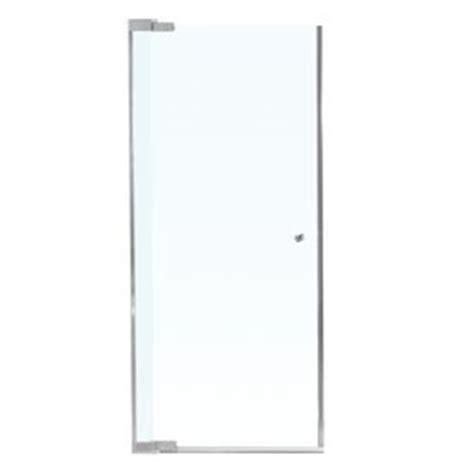 Maax Kleara Shower Door Maax Kleara 23 5 In To 25 5 In Brushed Nickel Frameless Pivot Shower Door Your Door Dear House