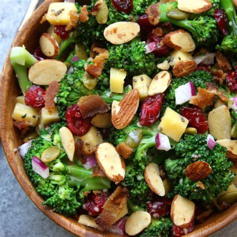 healthy salad recipes super healthy broccoli salad the fed up foodie