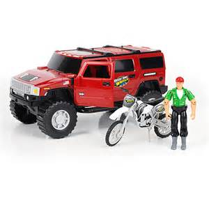 Adventure Wheels Truck Toys Adventure Wheels Deluxe Hummer Sut Vehicle Set Walmart