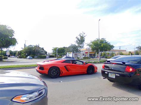 Lamborghini Fort Lauderdale Lamborghini Aventador Spotted In Fort Lauderdale Florida