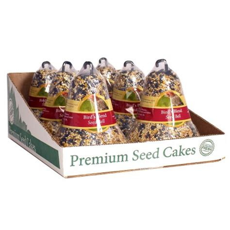 how to make seed bells for parrots heath outdoor products sc 11 14 ounce birds blend seed cake bell 6 pack home garden decor