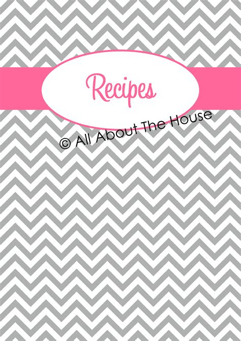 printable recipe binder covers organising with binder covers recipe organisation home