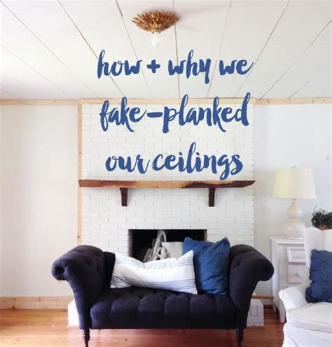 popcorn ceilings how we fake planked them the nester s