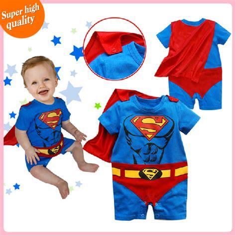Romper Bodysuit Bayi Laki Laki pakaian bayi rompers bayi laki laki lucu superman kostum