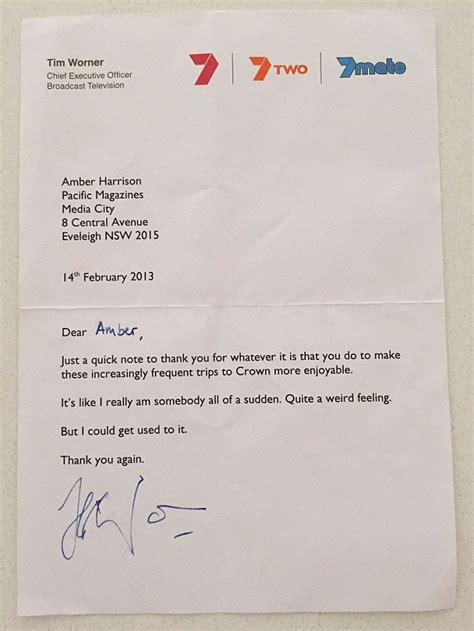 charity bag packing letter harrison releases letters from ceo tim worner