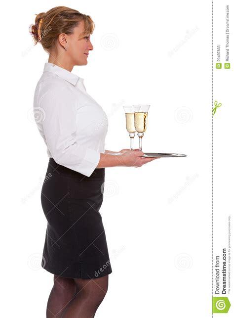 chagne reception waitress stock photos image 29497833