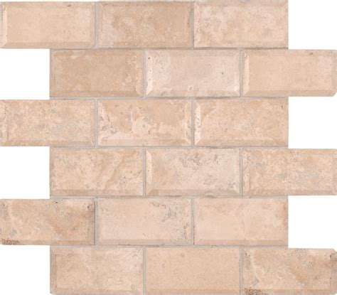 msi stone ulc tuscany ivory 12 in x 12 in x 10 mm honed beveled travertine mesh mounted mosaic