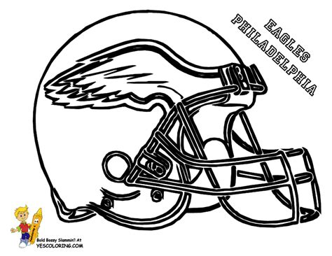 nfl eagles coloring pages football and rugby coloring pages