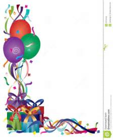 birthday presents with ribbons and confetti stock photo