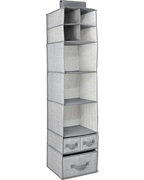 Closet Storage Shelves And Drawers Deal On Interdesign Aldo Fabric Hanging Closet