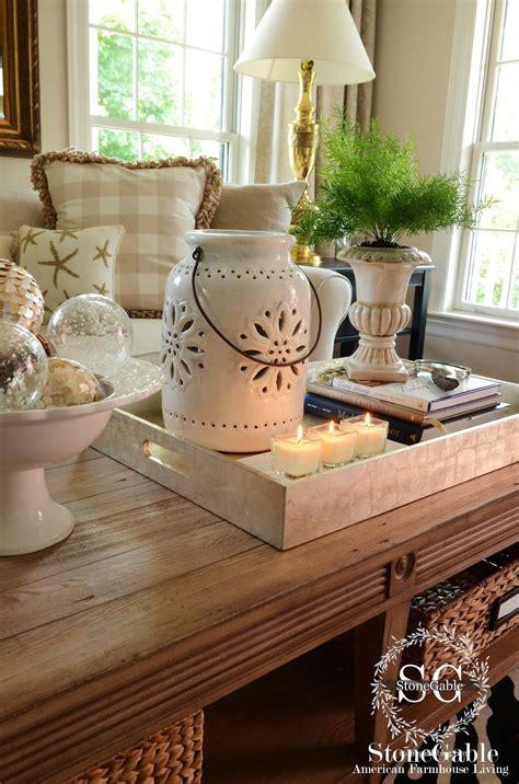 decorate  coffee table   pro tray decor