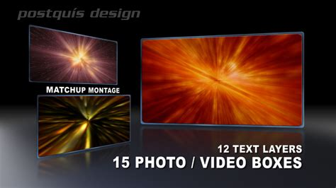 After Effects Templates Matchup Montage 1 Postquis Design Llc After Effects Montage Template