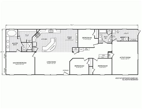 fleetwood mobile home plans fleetwood homes manufactured park models and modular 58579