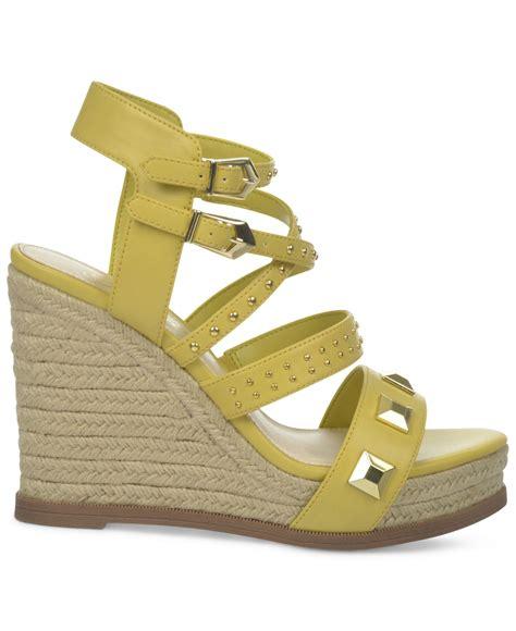fergie averie espadrille platiform wedge sandals in yellow