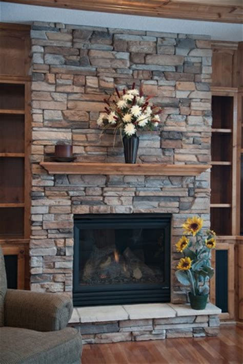 rock fireplaces stone veneer