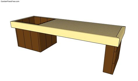 outdoor planter bench plans wood shop garden bench planter plans