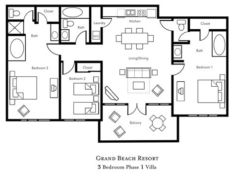 historic powhatan resort floor plan historic powhatan resort 3 bedroom floor plan gurus floor