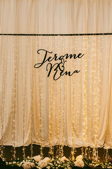 Wedding Backdrop With Lights by Wedding Backdrop With Lights Photo By Samuel