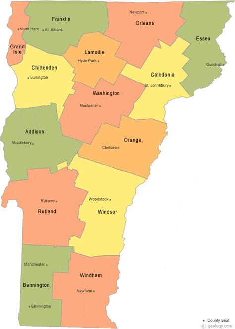 vt map map of vermont counties and cities
