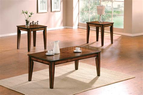 distressed finish modern 3pc coffee table set