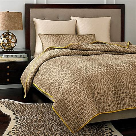 vince camuto bedding vince camuto marseilles cheetah coverlet bed bath beyond