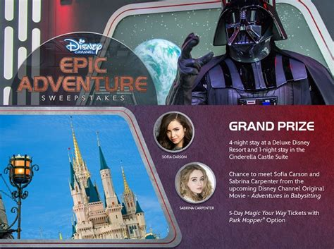 Www Disney Channel Com Sweepstakes - disney channel s epic adventure sweepstakes sweepstakesbible