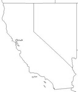 Blank Map Of California by California Outline Maps And Map Links