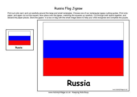 russian flag template russia flag jigsaw