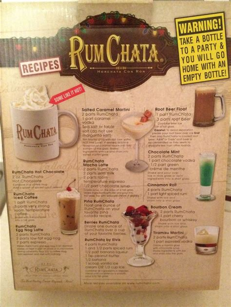 rum chata recipes drinks pinterest