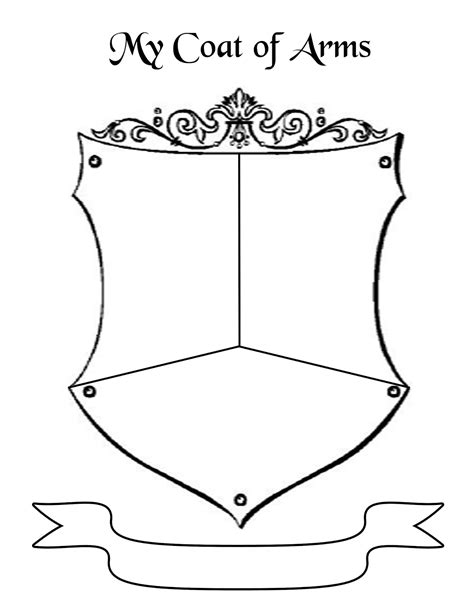 coat of arms template for students troop leader getting started with scout daisies