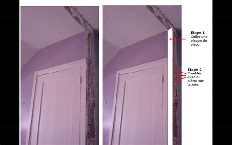 Refaire Platre Mur by Reconstitution D Un Angle De Mur