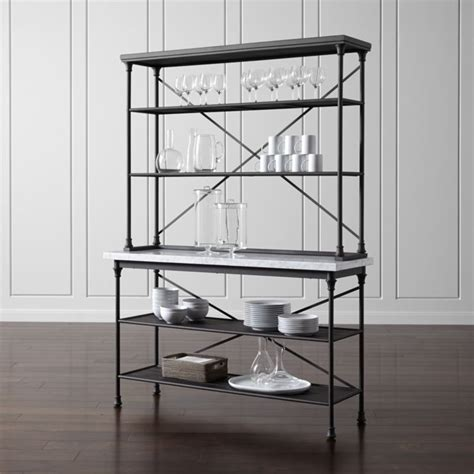 French Kitchen Bakers Rack with Hutch   Reviews   Crate