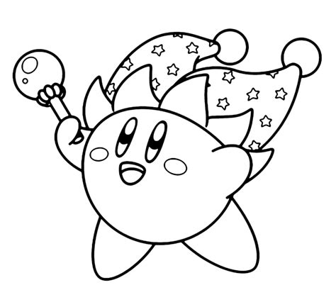 kirby coloring pages to print coloring pages