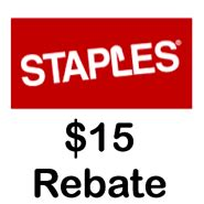 Staples Gift Card Rebate - staples 15 gift card rebate with 300 mastercard gift card purchase next week
