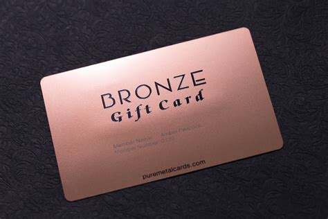 metal card build tiered member cards starting with bronze metal cards