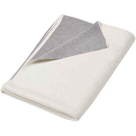 Decke Grau Weiss by Merino Decke Doubleface Weiss Grau Merino Decken