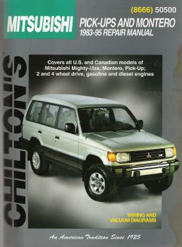 auto manual repair 1992 mitsubishi truck regenerative braking service manual chilton car manuals free download 2000 mitsubishi montero electronic throttle