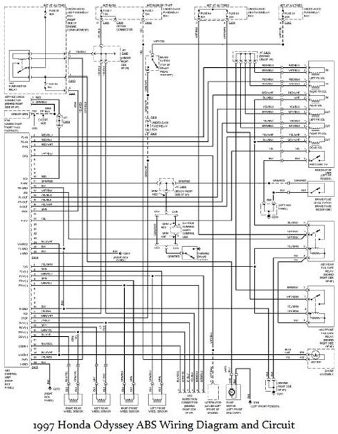1997 honda odyssey electrical diagram circuit wiring