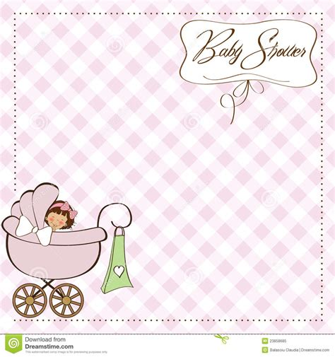 baby announcement cards free template baby announcement card stock vector illustration of
