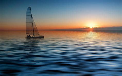 Late Sunset Sail Boat Sunset Sailing Sunset Wallpapers 1920x1200 658526