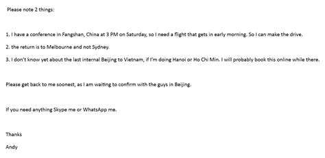 thank you letter to client from travel malaysia air flight 370 story