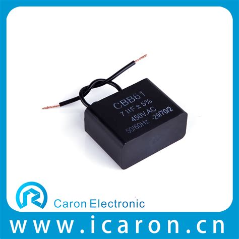 cbb61 ac motor generator capacitor 250v 400v 450v polyester capacitor motor fans from wenling caron electronic factory